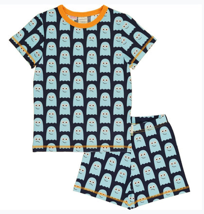 Maxomorra Ghost Pyjama Set Shortsleeve