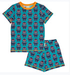Maxomorra Robot Pyjama Set Shortsleeve