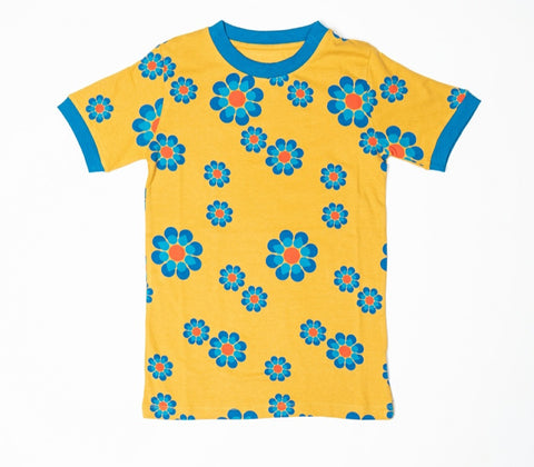 Alba Vigga Bright Gold Flower Power Tshirt Mummy