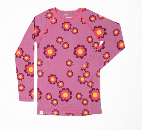 Alba My All Time Favorite Longsleeve Top Bordeaux Flower Power Mummy