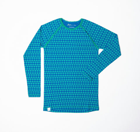 Alba My All Time Favorite Longsleeve Top Snorkel Blue Flower Mummy