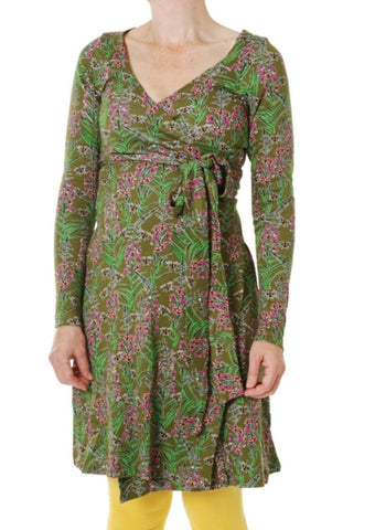 Duns Willowherb Olive Branch Wrap Dress Longsleeve