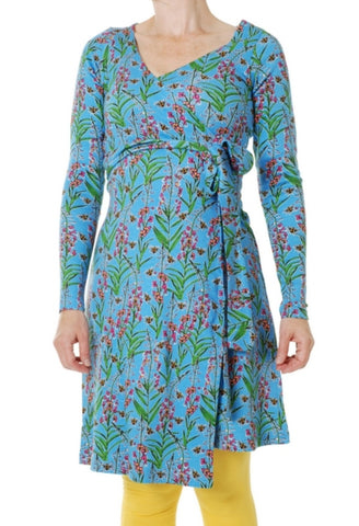 Duns Willowherb Blue Dress Wrap Longsleeve