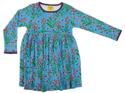 Duns Willowherb Blue Dress Longsleeve Twirly