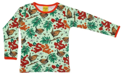 Duns Rowanberry Green Top Longsleeve