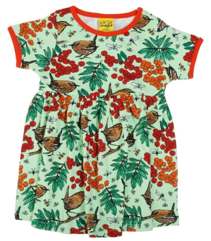 Duns Rowanberry Green Dress Shortsleeve Twirly