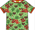 Duns Rowanberry Green Top Shortsleeve