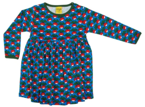 Duns Radish Blue Dress Longsleeve Twirly