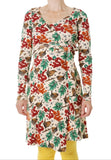 Duns Rowanberry Mother of Pearl Wrap Dress Longsleeve