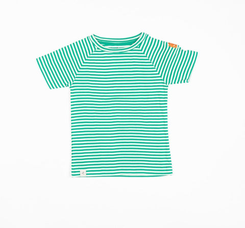 Alba Sigurd T Shirt Pepper Green Magic Stripes