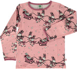 Smafolk Christmas Sledge Bridal Pink Longsleeve Top