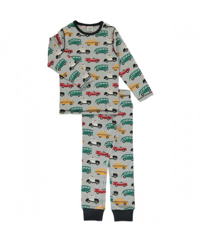 Maxomorra Traffic Pyjama Set Longsleeve