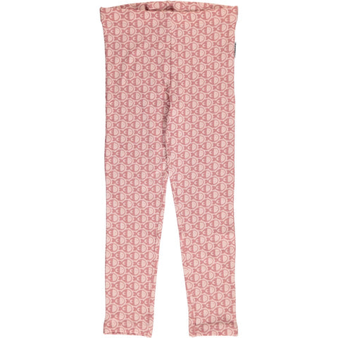 Maxomorra Fish Pink Mono Leggings