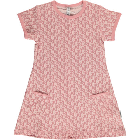 Maxomorra Fish pink Mono Tunic Shortsleeve