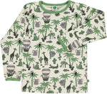 Smafolk Jungle Animals Asian green longsleeve top