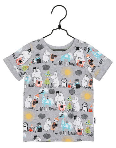 Martinex Moomins Summer Day Tshirt Gray