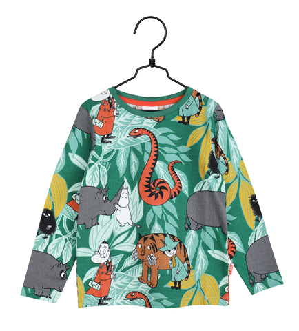 Martinex Moomin In the Jungle Green Top Longsleeve