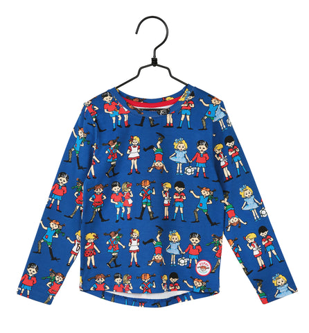 Martinex Pippi And Friends Top Longsleeve Blue