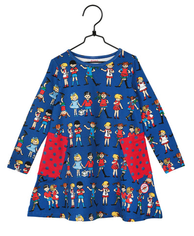 Martinex Pippi And Friends Dress Longsleeve Blue