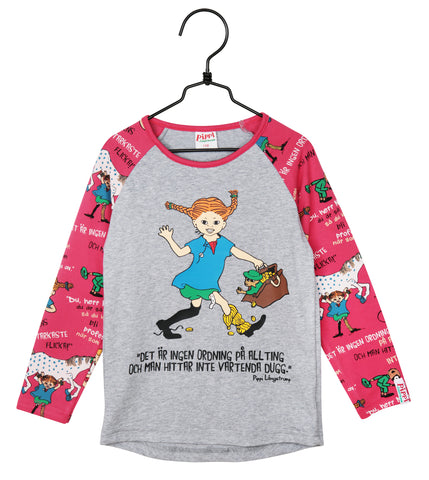 Martinex Pippi Longstocking Quote Shirt Raspberry Longsleeve