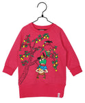 Martinex Pippi Longstocking On the Branch Sweat Tunic Raspberry
