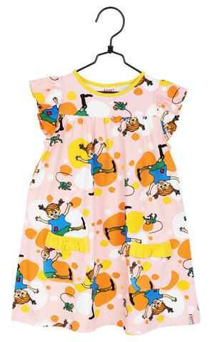 Martinex Pippi  Longstocking Cartwheel Pocket Tunic/Dress Shortsleeve