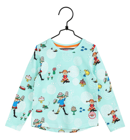 Martinex Pippi Longstocking Party Mint Top Longsleeve
