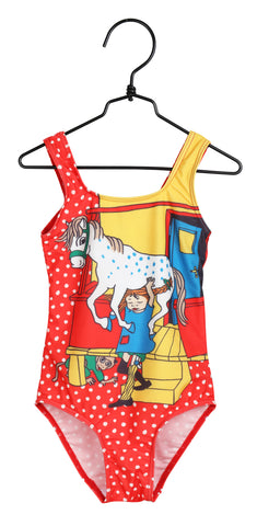 Martinex Pippi Longstocking Porch Swimming Suit Red