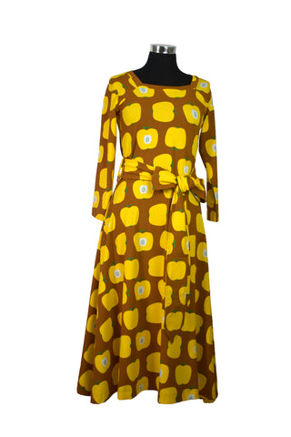 Moromini Yellow Apple Square Neck Dress Mummy