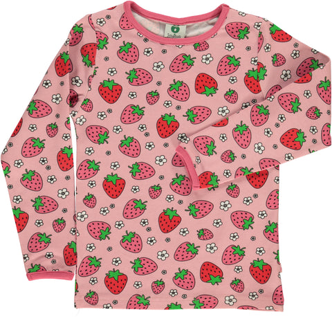 Smafolk Strawberry Silver pink Longsleeve Top