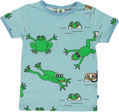 Smafolk Frog Air Blue Top Shortsleeve