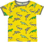 Smafolk Lizard Yellow Top Shortsleeve