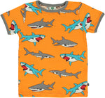Smafolk Shark Orange Top Shortsleeve