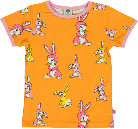 Smafolk Rabbit Orange Top Shortsleeve