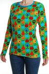 Duns Fruit Green Velour Adult Longsleeve Top