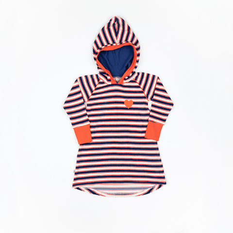 Alba Marie Hood Dress Blueprint Magic Stripe