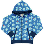 Maxomorra Elephant Friends Cardigan Hood