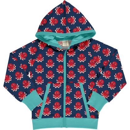 Maxomorra Octopus Cardigan Hood Sweat