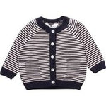 Muesli Cardigan Knit Stripe Navy