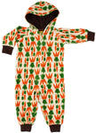 Duns Carrot Velour Hooded Onesie