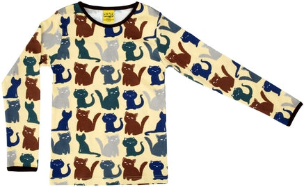Duns Cats Lime Longsleeve Top
