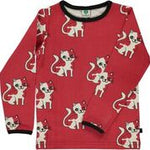 Smafolk Cat Dark Red longsleeve top