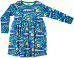 Duns Dog Life Blue Twirly Dress Longsleeve