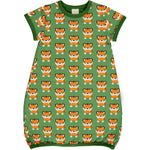 Maxomorra Tangarine Tiger Dress Balloon Shortsleeve