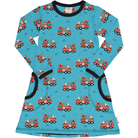 Meyaday Fire Truck Dress Longsleeve