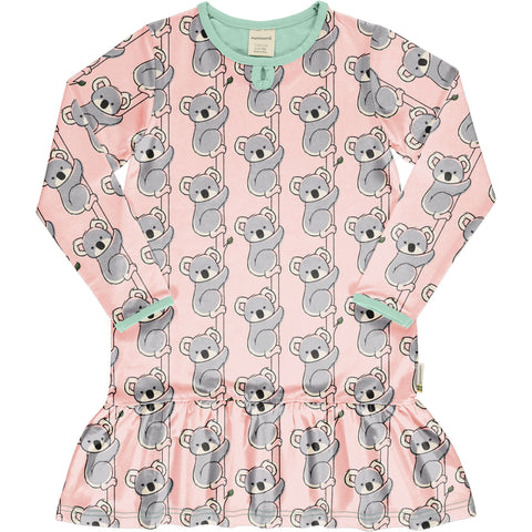 Maxomorra Koala Dress Frill Longsleeve
