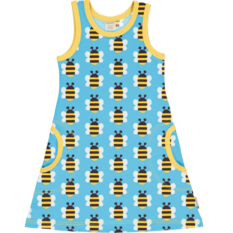 Maxomorra Humble Bumblebee Dress Sleeveless