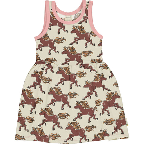 Maxomorra Horse Dress Spin Sleeveless