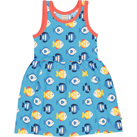 Maxomorra Tropical Aquarium Dress  Spin Sleeveless