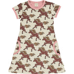 Maxomorra Horse Dress Shortsleeve